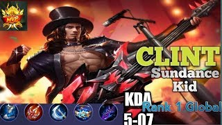 Top 1 Global Clint by SUNDANCE KID - Mobile Legends BANG BANG