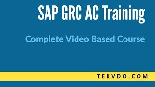 SAP GRC Training - MSMP Workflow Introduction - SAP GRC 10.1 Complete video based course