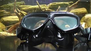Маска BS Diver Apnoicus чёрный силикон, двухстёкольная для плавания и глубокого ныряния от компании МагазинCalipso dive shop - видео