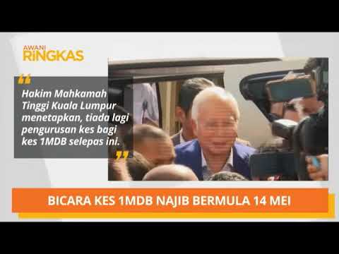 AWANI Ringkas: Bicara kes 1MDB Najib bermula 14 Mei & bekas Pegawai Kanan FELCRA ditahan akibat rasu