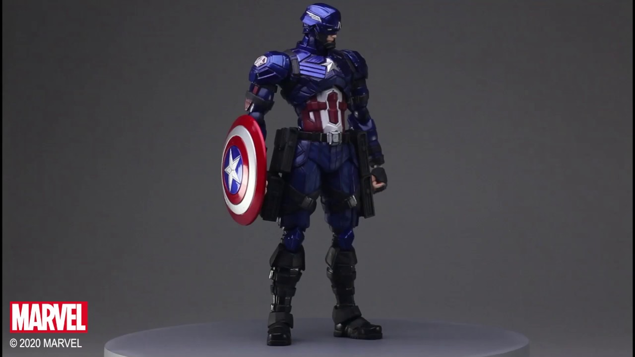 Video MARVEL UNIVERSE VARIANT BRING ARTS™ CAPTAIN AMERICA DESIGNED BY TETSUYA NOMURA [ACTION FIGURE]
