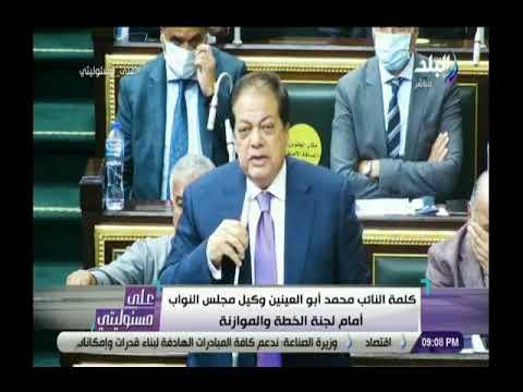 النائب محمد أبو العينين يطالب بالاهتمام بالصناعة وتخفيف عبء الدين العام عن المواطنين