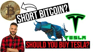 Should you BUY TESLA stock? How I shorted BITCOIN for profit