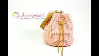 Сумка- торба из трикотажной пряжи