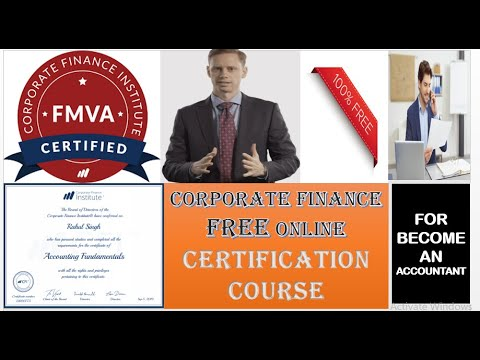 CFI -Free Financial Modelling Course With Certificate|Corporate Finance Courses,Free Online Courses