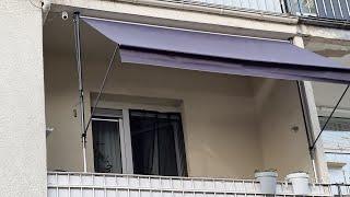 FLORABEST Klemmmarkise 300x150 cm, für Balkon & Terrasse mit Ausfallarmen (  Lidl  )