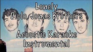 Diplo, Jonas Brothers - Lonely Acoustic Karaoke Instrumental
