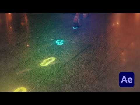 Glowing Neon Footsteps in After Effects – Tutorial