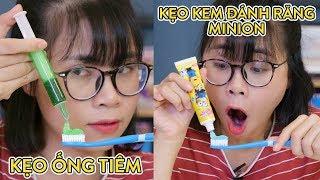 Kẹo Ống Tiêm Và Kẹo Gum Kem Đánh Răng Minion