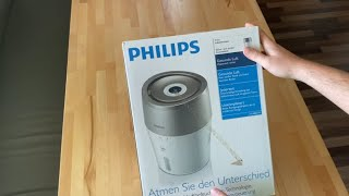 Philips Luftbefeuchter HU4803/01  - German Unboxing
