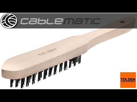 Cepillo metálico Tolsen® distribuido por CABLEMATIC ®