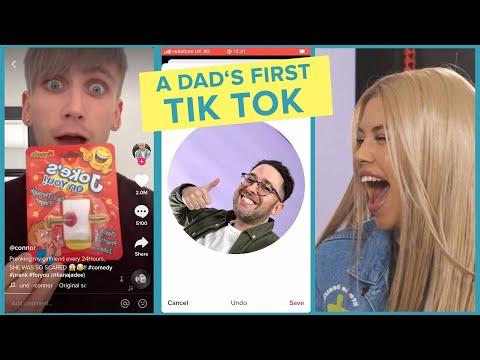 Tik Tok Stars Teach A Dad How To Tik Tok Ft. Connor And Liana