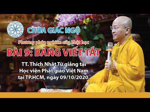 Bảng viết tắt - Phương pháp Nghiên cứu Phật học