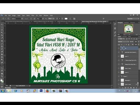 Video cara membuat kartu ucapan idul fitri ramadhan 1438 h | 2017 m