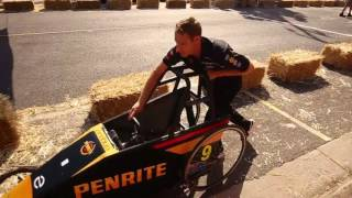 David Reynolds at the Upwey Billy Cart Race