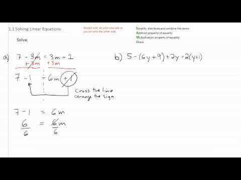 Solving Linear Equations p1