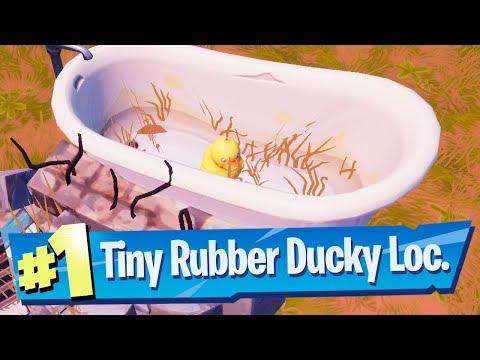 Search Tiny Rubber Ducky at spot hidden in Summertime Splashdown Loading Screen Location - Fortnite