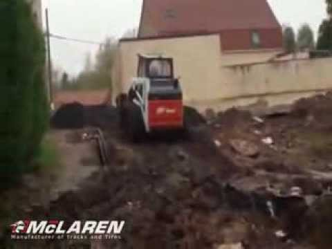 McLaren Rubber OTT on Bobcat 753 Skid Steer