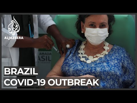 Brazil begins roll-out of 2 million COVID vaccines amid protests