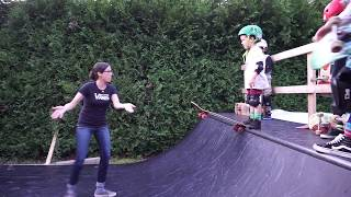 Watch this 4 year old boy overcome his fear of skateboarding.