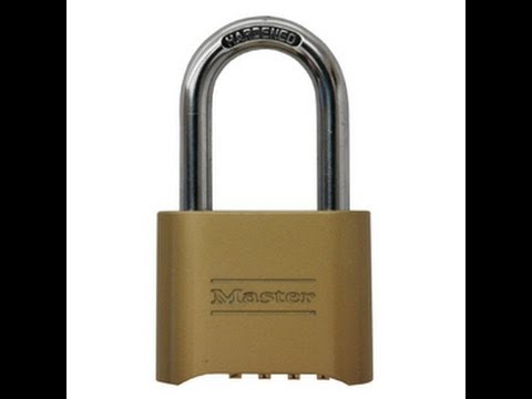 How to lock pick a 4-digit master lock
