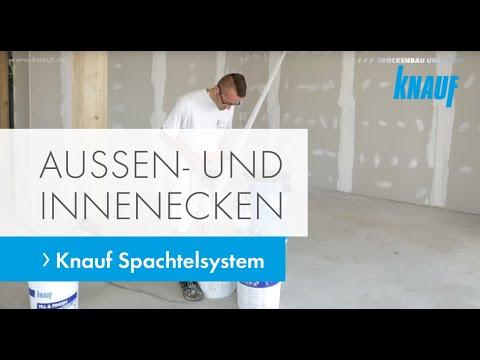 Außen- und Innenecken sauber ausgeführt mit Knauf