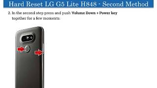 LG G5 Lite H848 | Hard Reset