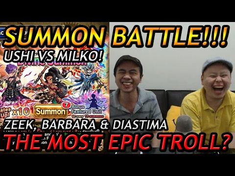 Download Super Epic Troll Summon Battle Ushi Vs Milko On Diastima