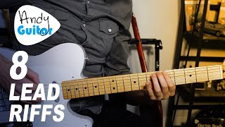 8 Well Known LEAD Riffs to learn // Minor Pentatonic based