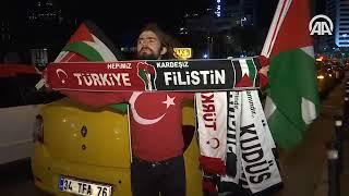 """İstanbul'da taksicilerden """"Kudüs"""" protestosu"""