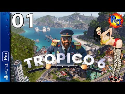 Let's Play Tropico 6 PS4 Pro | Console Gameplay Episode 1 | Getting Started (P+J)