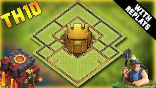 INSANE Town Hall 10 TROPHY Base Design 2019 With Replays! CoC BEST Th10 Trophy Base Layout