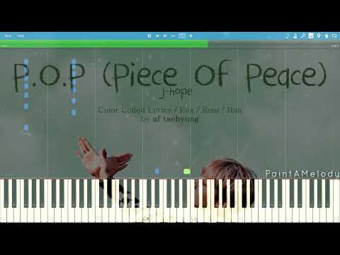 BTS J-hope - P.O.P (Piece Of Peace) Pt.1 | Piano Tutorial (Synthesia)