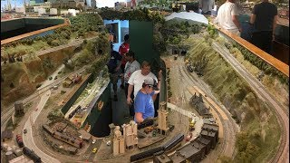 MASSIVE HO Scale Model Train Layout! Chesapeake Bay and Western