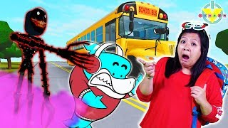 HORROR HIGH SCHOOL! Scariest ROBLOX High School ! Ryan's Mommy gets chased by MONSTER!