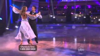 Chynna Philips & Tony Dovolani Dancing with the Stars Viennese Waltz