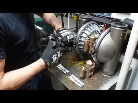 Prueba de válvula de aire, bomba neumática Wilden (Wilden VS Nomad)