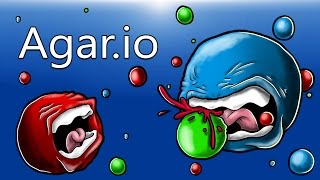 Agar.io (Our 1st time playing) Youtube simulator!