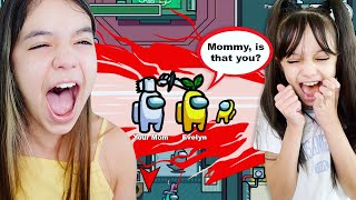 OUR MOM SNUCK INTO OUR AMONG US GAME! | Emily vs Evelyn Gaming