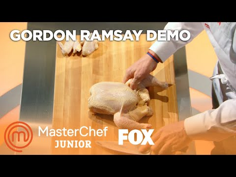Gordon Ramsay Demonstrates How To Cut Up An Entire Chicken   Season 5 Ep. 8   MASTERCHEF JUNIOR
