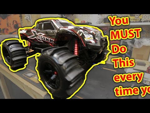 RC Car Maintenance After Getting It WET - Driving In Water - Traxxas X-Maxx