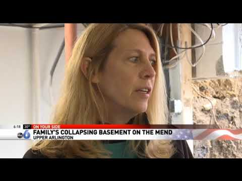 A family in Upper Arlington, OH, experienced the shock of their lives when one of their foundation walls collapsed. A news crew from ABC6 visited the home as one of Ohio Basement Authority's crews worked to rebuild the wall. This video clip, courtesy of ABC6, shows how we are helping the homeowners create a safe living environment.