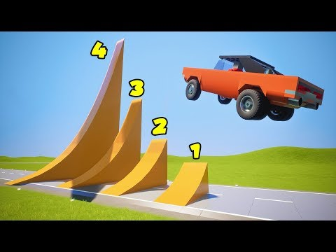 4 Different Lego Ramps Jumps | Brick Rigs