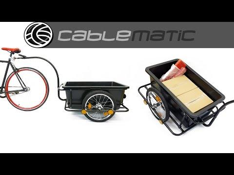 Remolque de bicicleta para carga de 80Kg con caja de 90L distribuido por CABLEMATIC ®
