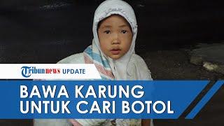 Viralnya Foto Anak Berhijab Bawa Karung Berisi Botol Bekas, Pemerintah Kota Padang Turun Tangan