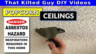 Popcorn Ceiling Dangers. And 5 ways to Remove a Popcorn Ceiling yourself