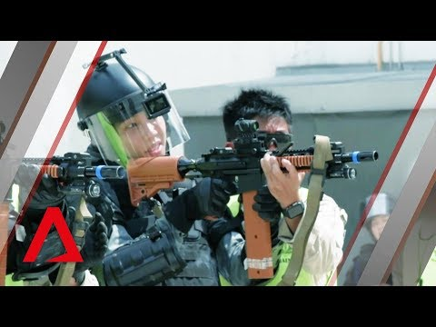 What it's like to train with Singapore's riot police