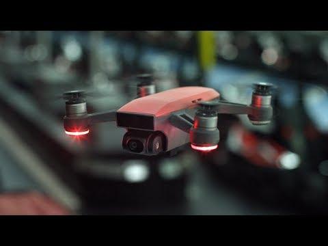 סרטון רחפן DJI דגם SPARK גודל כף יד, המראה בשניות כולל זיהוי פנים וGPS