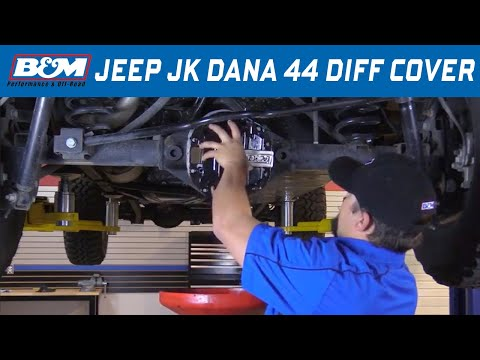 Install: 2007-18 Jeep Wrangler JK - Hi-Tek Nodular Iron Differential Cover 12312 - Dana 44