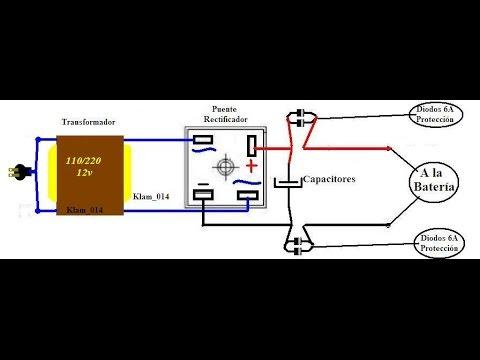 Construir Cargador de baterías para autos y motos muy fácil.
